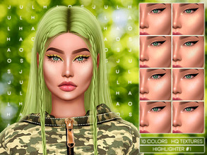 Sims 4 — JUL_HAOS [COSMETICS] HIGHLIGHTER #1 by Jul_Haos — - CATEGORY: BLUSH - COLORS: 10 - GENDER - FEMALE - HQ TEXTURES