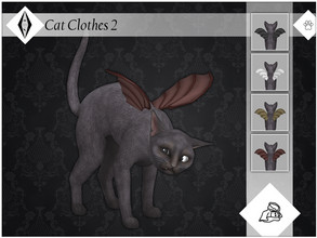 Sims 4 — Cat Clothes 2 - EP04 Needed by AleNikSimmer — Bat wings for adult cats. They come in four colors, work with