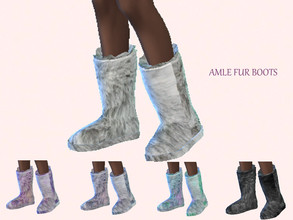 Sims 4 — Fur boots by amlethesims — Fur boots with 5 swatches! Recolor of get famous boots. Enjoy!