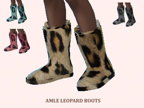 Sims 4 — Leopard boots by amlethesims — Leopard boots with 4 swatches. Recolor of get famous boots. Enjoy!