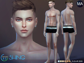 Sims 4 — S-Club WMLL ts4 skintones6.0 Shing MA  by S-Club — Skintones for men, 7 swatches, hope you like, thank you.