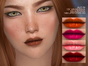 Sims 4 — Vanessa Seasons - Lipstick 13 HQ by Alf-si — Standalone color upd of lips N 04 - teen + ; - 20 colors; - HQ