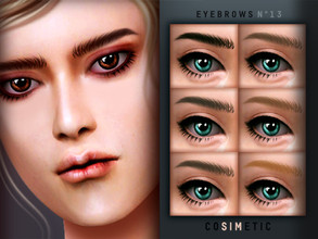 Sims 4 — Eyebrows N13 by cosimetic — - This eyebrow can use on all genders and from teen to elder. - Contains [ 15 ]