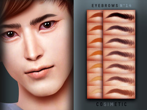 Sims 4 — Eyebrows N14 by cosimetic — - This eyebrow can use on all genders and from teen to elder. - Contains [ 15 ]