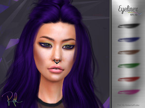 Sims 4 — Eyeliner RPL10 by RobertaPLobo — :: 6 swatches :: Female (Adult) :: HQ mod compatible :: Custom thumbnail ::