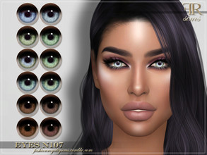 Sims 4 — FRS Eyes N107 by FashionRoyaltySims — Standalone Custom thumbnail All ages and genders 12 color options HQ