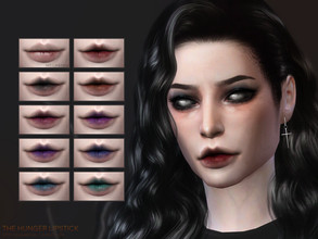 Sims 4 — The Hunger lipstick | Simblreen 2020 by sugar_owl — - 20 swatches - HQ compatible - all genders - Teen - Adult -