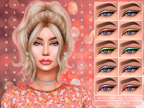 Sims 4 — JUL_HAOS [COSMETICS] EYELINER #59 by Jul_Haos — - CATEGORY: EYELINER - COLORS: 16 - GENDER - FEMALE - HQ