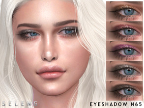 Sims 4 — Eyeshadow N65 by Seleng — Eyeshadow for female Teen to Elder 7 colours Custom Thumbnail HQ Compatible Happy