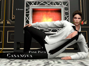 Sims 4 — Casanova Pose Pack by -Vane- — There are a total of 5 poses that are used in live mode To use these poses you