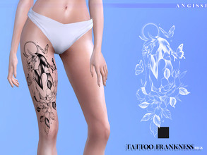 Sims 4 — Tattoo-Frankness(legs) by ANGISSI — *For all questions go here-----angissi.tumblr.com *3 black options