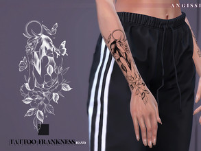 Sims 4 — Tattoo-Frankness(hand) by ANGISSI — *For all questions go here-----angissi.tumblr.com *3 black options