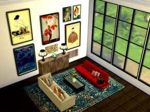 Sims 4 — Art Deco Paintings (Mesh needed) by rrttjpjp — ***You need to get MESH from ung999 at TSR*** Comes 8 variations