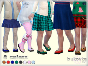 Sims 4 — Shoes Toddler F by bukovka — Shoes for toddler girls. Are set independently, the new mesh mine included.
