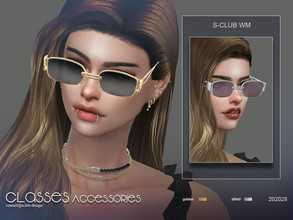 Sims 4 — S-Club ts4 WM Glasses 202008 by S-Club — Glasses, 10 swatches, hope you like, thank you.