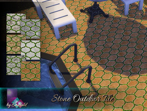 Sims 4 — Stone Outdoor Tile by Emerald — These stone design tiles will liven up your gardens and are perfect for any