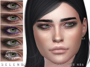 Sims 4 — Eyeliner N86 by Seleng — Female Teen to Elder 6 swatches Custom Thumbnail HQ compatible The picture was taken