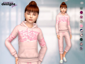 Sims 4 — Junior Camo Set by Pinkfizzzzz — Cute comfy jogger set for your beautiful mini sims!!