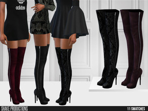 Sims 4 — ShakeProductions 534 - Boots by ShakeProductions — Shoes/ Boots New Mesh All LODs Handpainted 11 Colors