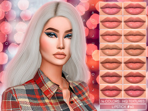 Sims 4 — JUL_HAOS [COSMETICS] LIPSTICK #60 by Jul_Haos — - CATEGORY: LIPSTICK - COLORS: 14 - GENDER - FEMALE - HQ