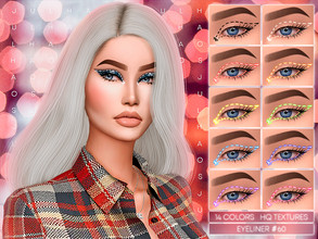 Sims 4 — JUL_HAOS [COSMETICS] EYELINER #60 by Jul_Haos — - CATEGORY: EYELINER - COLORS: 14 - GENDER - FEMALE - HQ