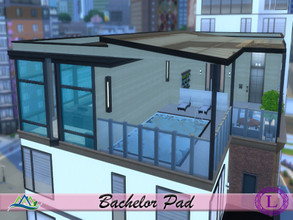 Sims 4 — Bachelor Pad by Lyca02 — Are you a Bachelor looking for your perfect pad? Grab this! This Pad contains: 1