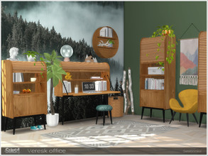 Sims 4 — Veresk office by Severinka_ — A set of furniture and decor for the design of the office room in the Scandi /