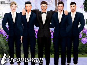 Sims 4 — Groomsman (Pose Pack) by Beto_ae0 — Poses of a groom with his groomsmen, I hope you like them To use the poses