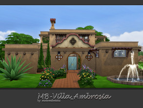 Sims 4 — MB-Villa_Ambrosia by matomibotaki — Stylish and spacious Mexican villa. Luxurious and chic. A stately property