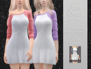 Sims 4 — Josie Dress by Dissia — Josie Dress 15 swatches Hope you like it ;)
