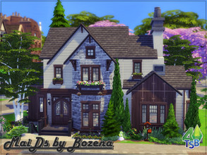 Sims 4 — House MaiDs by Bozena — Lot: 20x15 Value: 191,929 - 3 bedrooms - 3 bathroom - kitchen with dining area -