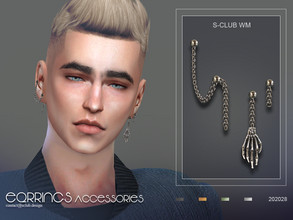 Sims 4 — S-Club ts4 WM EARRINGS 202028 by S-Club — Earrings, 5 swatches, hope you like, thank you.