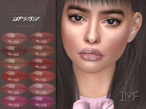 Sims 4 — IMF Selena Lipstick N.290 by IzzieMcFire — Selena Lipstick N.290 contains 12 colors in hq texture. Standalone