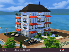Sims 4 — Etoile Restarurant by evi — A four floor luxurious restaurant with a bar on the top, two different chef