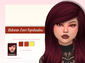 Sims 4 — Autumn Love Eyeshadow by LadySimmer94 — BGC 3 swatches Custom Thumbnail (as seen on the ad) Teen / Elder Male /