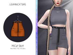 Sims 4 — LMCS MiCat Skirt by Lisaminicatsims — -Adult-Elder-Teen-Young Adult -New Mesh -19 swatches
