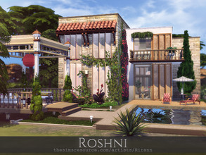 Sims 4 — Roshni by Rirann — Roshni is a cosy home for a small or middle sim family. Fully furnished and decorated.