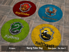 Sims 4 — Harry Potter Rug by SimsJohnSims — - Harry Potter Rug - 4 Colors - Base Game - The Sims 4