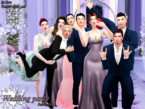 Sims 4 — Wedding party (Pose Pack) by Beto_ae0 — After a beautiful wedding comes a great party, I hope you like them To