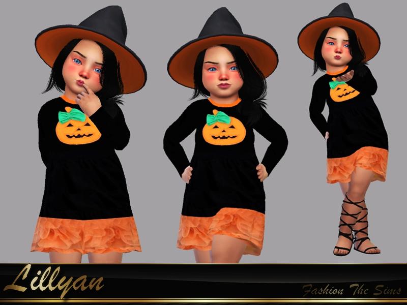 Sims 4 — Halloween dress baby by LYLLYAN — Dress in 1 model. Edited mesh Base game.