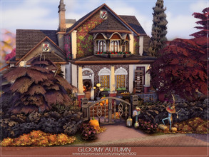 Sims 4 — Gloomy Autumn by MychQQQ — Lot: 30x20 Value: $ 123,851 Lot type: Residential House contains: - 2 bedrooms - 2
