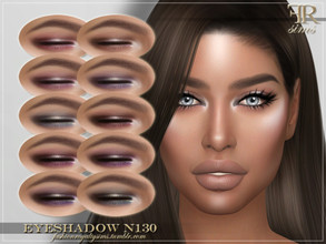 Sims 4 — FRS Eyeshadow N130 by FashionRoyaltySims — Standalone Custom thumbnail 10 color options HQ texture Compatible
