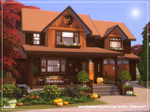 Sims 4 — Autumn - Nocc by sharon337 — 30 x 20 lot. Value $101,497 3 Bedrooms 3 Bathrooms Living Room Kitchen / Dining