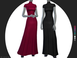Sims 4 — pipco - lila gown. by Pipco — a simple, sleek gown.