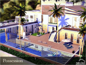 Sims 4 — Possession by nobody13922 — A large, family, luxurious property with a bright and stylish interior. Ground