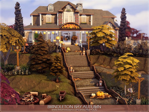 Sims 4 — Brindleton Bay Autumn by MychQQQ — Lot: 64x64 Value: $ 269,071 Lot type: Residential House contains: - 3