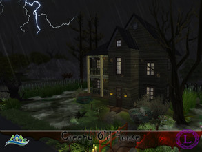 Sims 4 — Creepy Old House by Lyca02 — This simple abandon old house by the lake. But wait who is that? This House