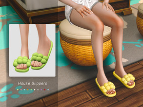 Sims 4 — Jius-House Slippers 01 by Jius — -House Slippers -10 colors -Everyday/Sleep -Custom thumbnail -Base game