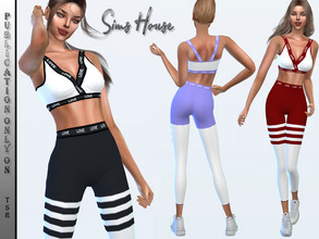 Sims 4 — Yoga suit (bottom) by Sims_House — Yoga suit (bottom) 7 color options.