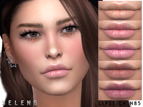 Sims 4 — Lipstick N85 by Seleng — Teen to Elder Female 16 colours Custom Thumbnail HQ mod compatible The picture was